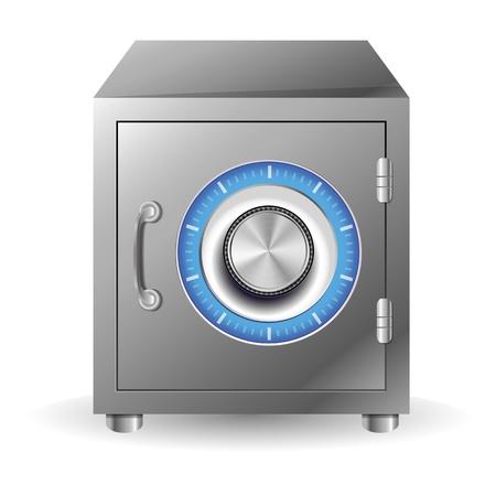 combination lock: Vector bank safe concept - security concept