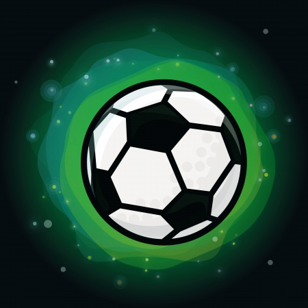 Vector soccer ball on green background - abstract background Stock Vector - 19255105