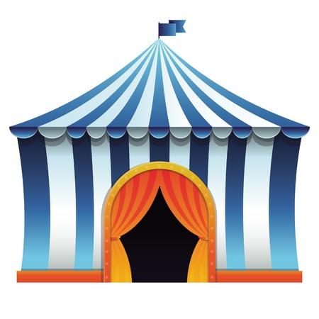 cirque: circus tent - bright icon - entertainment concept