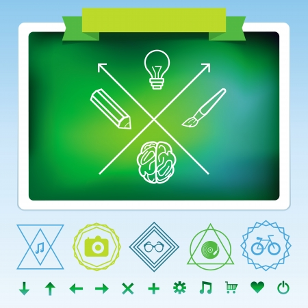 Vector hipster design elements - signs and symbols Stock Vector - 19413258