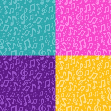 Vector seamless pattern with musical notes - abstract background Stock Vector - 19689429