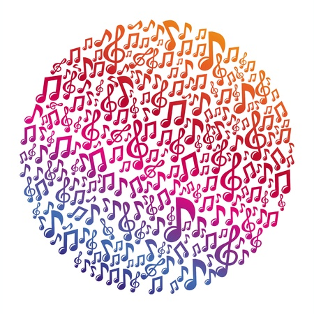Music concept - musical notes - abstract background Vector