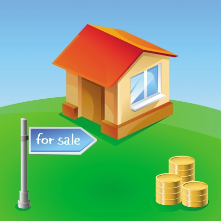 house icon - building for sale sign Vector