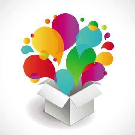 gifts box: white box - surprise concept