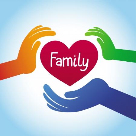 Concepto de familia - en forma de corazón y las manos Foto de archivo - 20958864