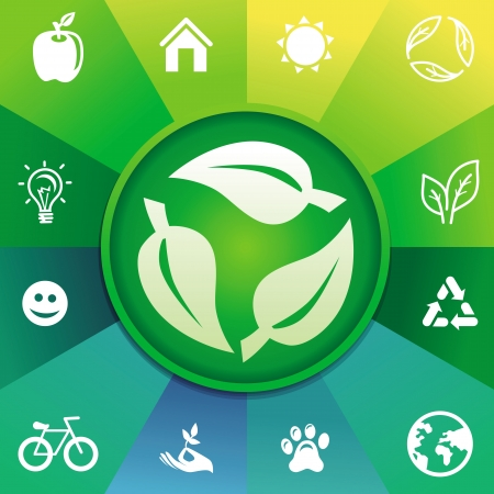 recycle concept - ecology icons Stock Vector - 20949591