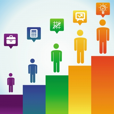 Vector business concept - men icons - infographic design elements Stock Vector - 22677468