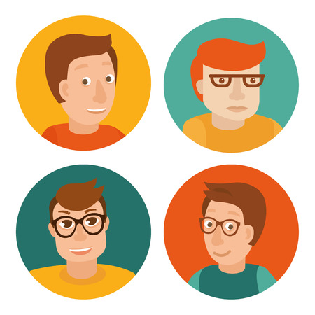 Vector set of avatars in flat style Vector
