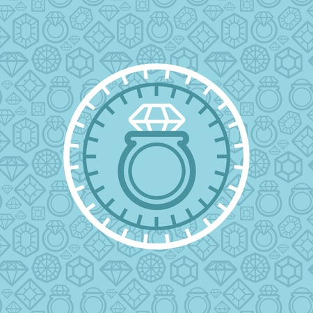 jewerly: jewelry sign and emblem in outline style - design element Illustration