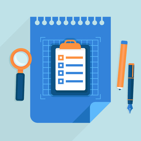 사업 계획 개념 - 플랫 스타일 아이콘