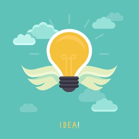 Vector creative idea concept - light bulb illustration Vector