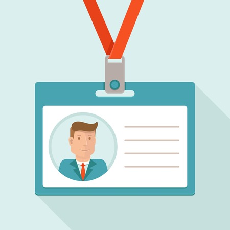 Vector concetto di business conferenza in stile piatto - carta d'identità per l'uomo d'affari e lo sfondo bianco per il testo Archivio Fotografico - 30905661