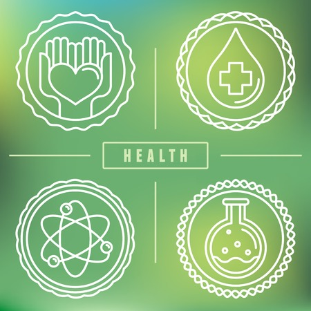 outline and icons - healthcare and medicine Vector