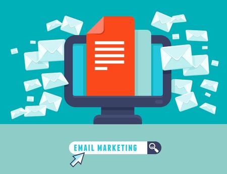 email marketing concept Ilustrace