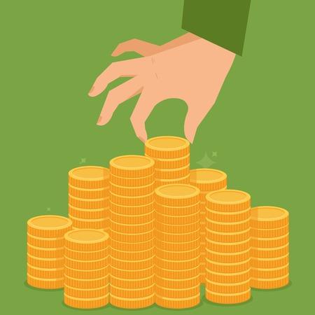 플랫 스타일의 금융 개념 일러스트