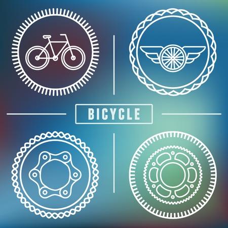 clavados: plantillas inconformista bicicleta