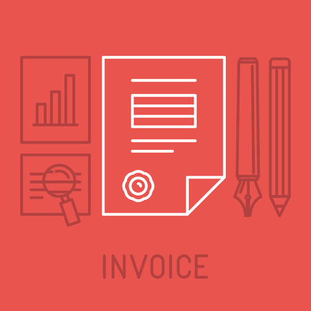 invoice: invoice concept in outline style