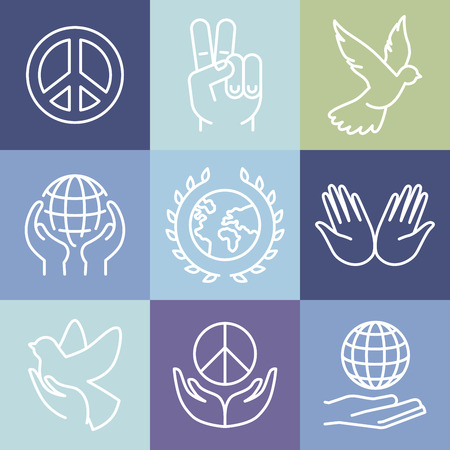 peace on earth: line peace signs