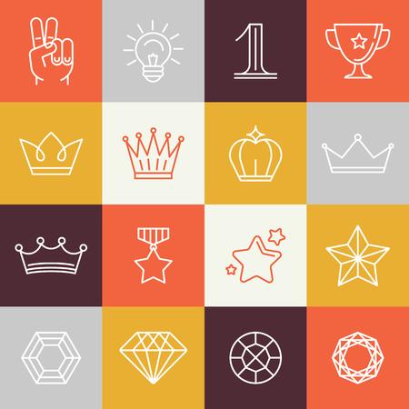 couronne royale: prix gagnant et signes de victoire