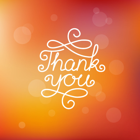 Vector hand-lettering thank you - greeting card design template