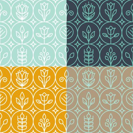 ベクトル モノラル ライン グラフィック デザイン テンプレート - 単純な線形パターンの装飾的な背景