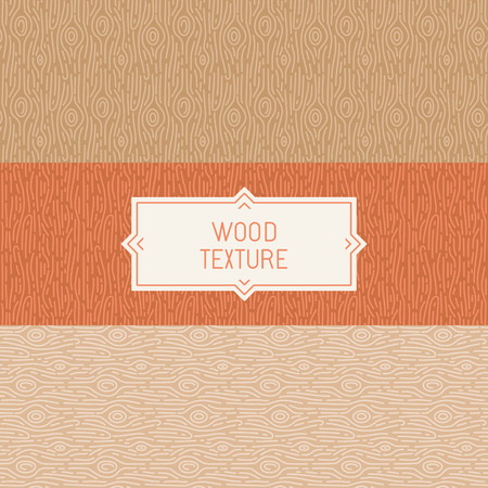 Vector seamless patterns and abstract backgrounds - wooden textures Vector