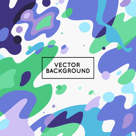 space for text: Vector decorative abstract background in trendy flat style with copy space for your text and artistic blots and stains