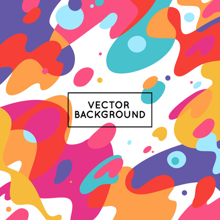 colorful: Vector decorative abstract background in trendy flat style with copy space for your text and artistic blots and stains