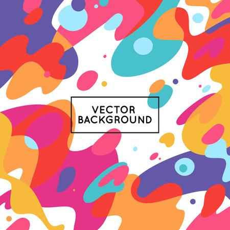 raum: Vector dekorative abstrakten Hintergrund in trendy flachen Stil mit Kopie Raum für Ihren Text und künstlerischen Flecken und Flecken Illustration