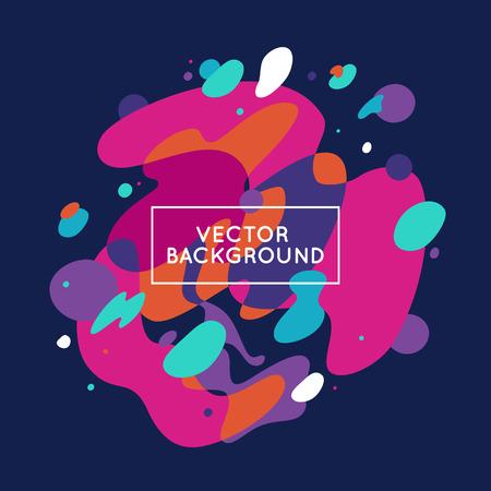 Vector decoratieve abstracte achtergrond in trendy vlakke stijl met een kopie ruimte voor uw tekst en artistieke vlekken en vlekken