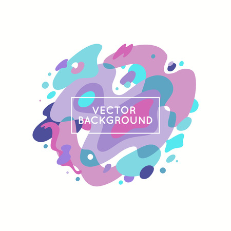 blemishes: Vector decorative abstract background in trendy flat style with copy space for your text and artistic blots and stains