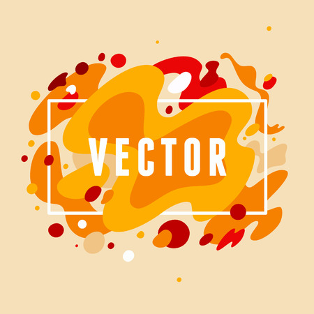 blemish: Vector abstract background with copy space for text or logo - in trendy bright flat style