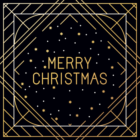 hand outline:  set of christmas greeting cards - merry christmas hand lettering in outline style - decorative typography and line flourishes in golden colour on white background