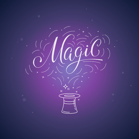 miracles: lettering magic and illustration - magic and ficus posterand concept