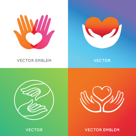 harmony idea: Vector charity and volunteer concepts Illustration