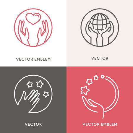 Vector Liebe und Freiwillige Konzepte Standard-Bild - 52650575
