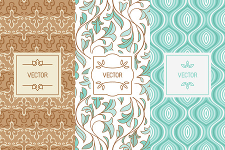 Vector Set Of Design Elements, Seamless Patterns And Label ...
