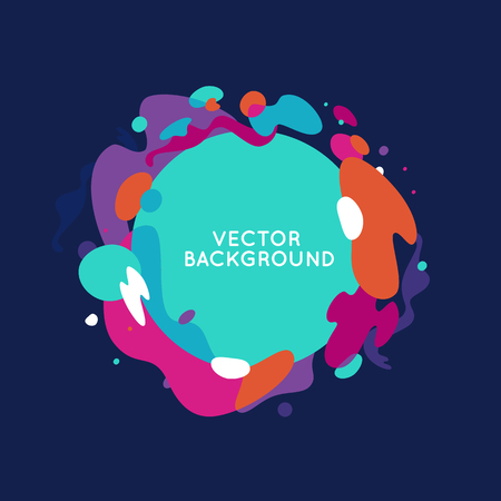 Vector decorative abstract background in trendy flat style with copy space for your text and artistic blots and stains