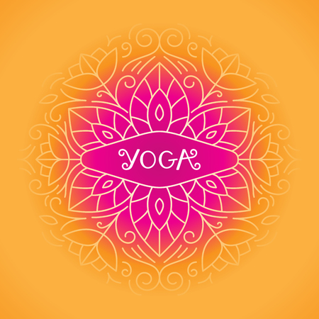 centers: Vector flowers -  beauty and spa - badge for yoga classes, holistic centers, natural cosmetics - meditation and health concept