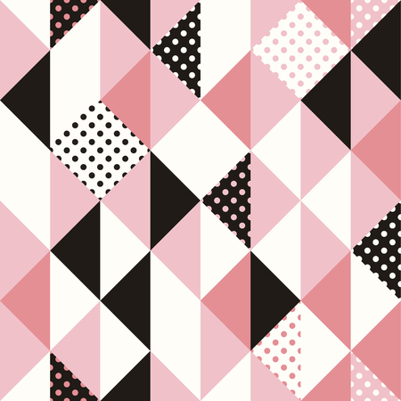 minimal: Vector abstract seamless pattern in trendy modern minimal style with geometric shapes - design templates for packaging, banners, prints and posters