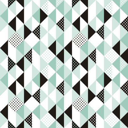 Vector abstract naadloos patroon in trendy moderne minimalistische stijl met geometrische vormen - design templates voor verpakking, banners, posters Stock Illustratie