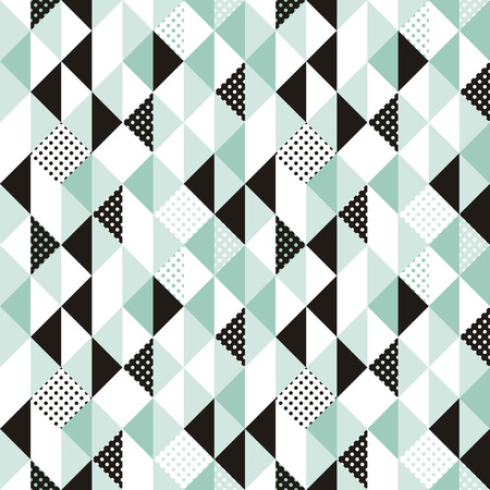 geometric shapes: Vector abstract seamless pattern in trendy modern minimal style with geometric shapes - design templates for packaging, banners, prints and posters