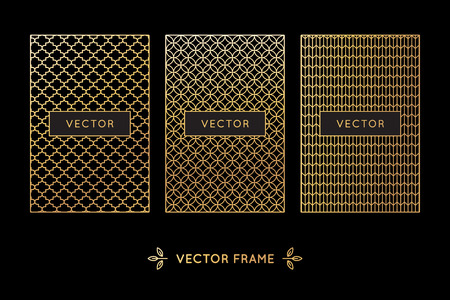 grid: Vector set of design elements Illustration