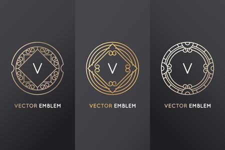 simple: Vector set of design elements Illustration