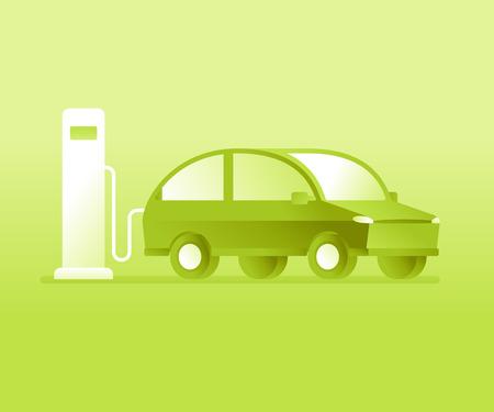 Elektrische auto opladen accu dichtbij station
