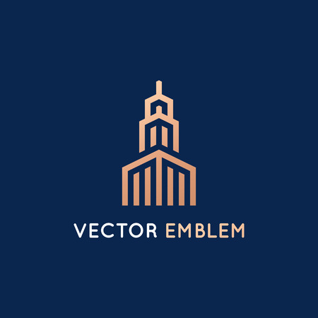 Vector logo design template in clean, simple and minimal style. Illustration