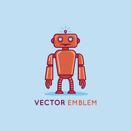 Vector logo design template in flat and simple style. Illustration