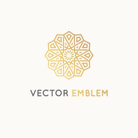 高級品、ホテル、ブティック、ジュエリー、東洋の化粧品、レストラン、ショップ、店舗のベクトルのロゴ デザイン テンプレート - アラビア様式の