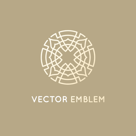 Vector Icon Design Template Abstract Symbol In Ornamental Arabic