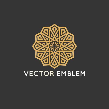 ベクトルのロゴのデザイン テンプレート - アラビア様式の装飾的で抽象的なシンボルです。